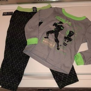Boys long sleeve and pants Ninja pajamas